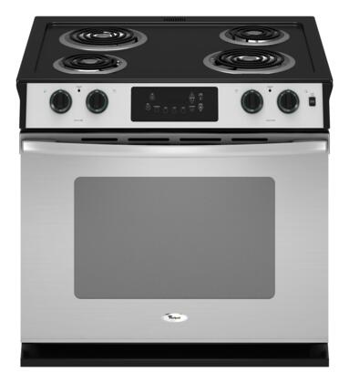 """Whirlpool WDE150LVS 30"""" Slide-in Electric Range with Coil Cooktop 4.5 cu. ft. Primary Oven Capacity"""