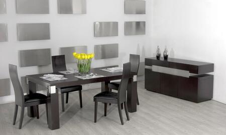 VIG Furniture VGGU61625PCSET Escape Dining Room Tables
