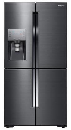 """Samsung RF23J9011S 36"""" Counter-Depth 4-Door Refrigerator with 23 cu. ft. Capacity, Cool Select Plus, Ice Maker, Finger Resistant Coating, LED Lighting, and Energy Star Qualified in Black Stainless Steel"""