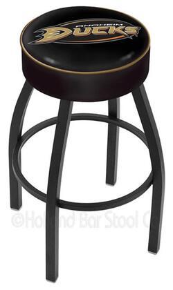 "Holland Bar Stool L8B125 25"" Cushion Seat with Black Wrinkle Base Swivel Bar Stool"