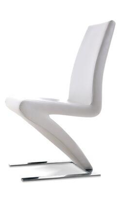 VIG Furniture VGLEY034WHT Modrest Zayd Series Modern Metal Frame Dining Room Chair
