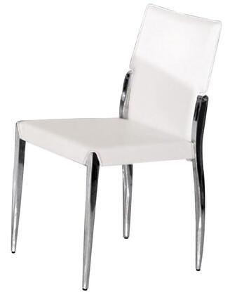VIG Furniture VGLEY024WHT Modrest Series Modern Metal Frame Dining Room Chair