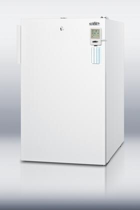 """Summit FS407LBI7MEDD 20"""" Medical Use Freezer with 2.8 cu. ft. Capacity, Factory Installed Lock, High Temperature Alarm, Digital Thermostat, and 4 Pull-out Drawers in White: X Hinge"""