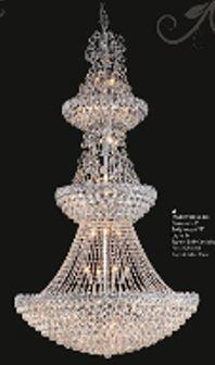 "J & P Crystal Lighting Firework Collection 99005D30 30"" Wide Chandelier in X Finish"