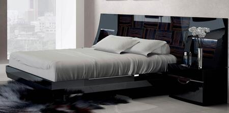 ESF Marbella Collection esfi113KQBED Bed with Wooden Slat Frame in Black