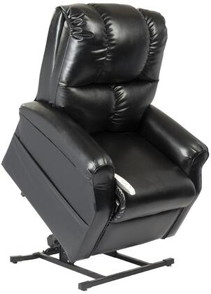 "Mega Motion Main Street NM2001-SKX-A01 33"" Power Recliner Lift Chair with 3 Position Mechanism, Divided Back, and Sinuous Spring and Foam Seat in Lexi X Vinyl"