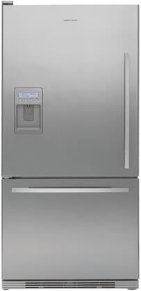 Fisher Paykel RF175WCLUX1 Active Smart Series Counter Depth Bottom Freezer Refrigerator with 17.5 cu. ft. Total Capacity 5.1 cu. ft. Freezer Capacity 2 Glass Shelves