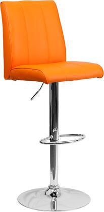 Flash Furniture CH122090ORGGG Residential Vinyl Upholstered Bar Stool