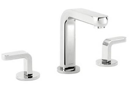 Hansgrohe 31067 Widespread Solid Brass Faucet w/ Double Lever Handles from the Metris S Collection: