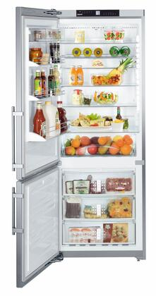 """Liebherr CS161 30"""" Star K, Energy Star Bottom Freezer Refrigerator with 15.5 cu. ft. Capacity, SuperCool, SuperFrost, FrostSafe, NoFrost and 2 Compressors, in Stainless Steel with"""
