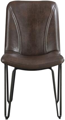 "Coaster Chambler Collection 35"" Dining Chair with Hairpin Legs, Bucket Seat, Black Metal Construction and Leatherette Upholstery in"