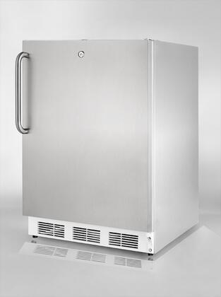 Summit FF8LSSTBLHD Commercial Series Compact Refrigerator with 5.5 cu. ft. Capacity in Stainless Steel