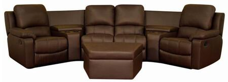 Wholesale Interiors 8802-X-7PC Home Theatre Sets Home Theater Reclining Sofa 7 Piece Set: