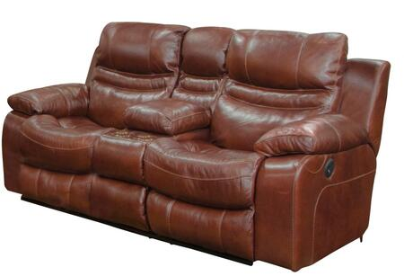 Catnapper 64249128319308319 Patton Series Leather Reclining with Metal Frame Loveseat