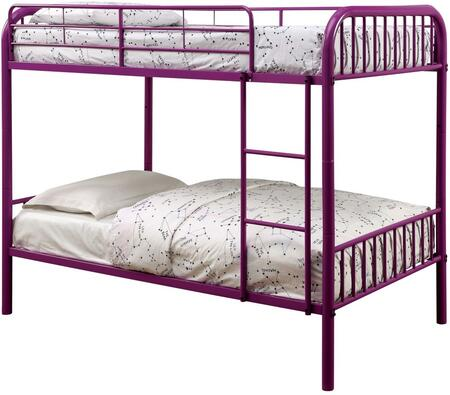 Furniture of America CMBK1035PR Rainbow Series  Twin Size Bunk Bed