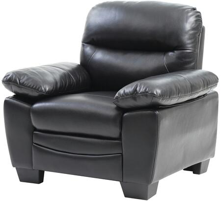 Glory Furniture G677C Faux Leather Armchair in Black