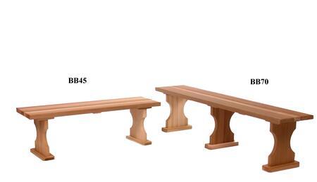 All Things Cedar BB70U Traditional Cedar Frame Armless Patio Benches