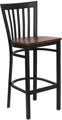 "Flash Furniture HERCULES Series XU-DG6R8BSCH-BAR-XXW-GG 29"" Heavy Duty House Back Metal Restaurant Bar Stool with Wood Seat, Commercial Design, 18 Gauge Steel Frame, and Foot Rest Rung"