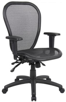 """Boss B601 40"""" Multi Function Mesh Chair with 3 Paddle Multi-Function, Padded Frame, Adjustable Height,  Seat Tilt Lock, and Back Angle Locks in Black"""