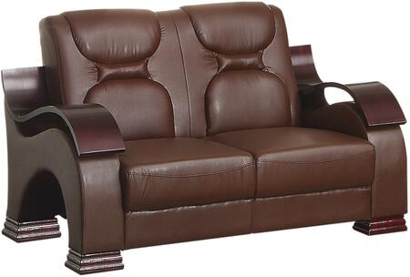 "Glory Furniture 56"" Loveseat with Removable Back and Arms, High Gloss Contoured Arms and Faux Leather Upholstery in"