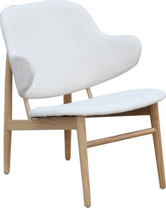 Fine Mod Imports FMI10108WHITE Atel Series Fabric Lounge with Wood Frame in White
