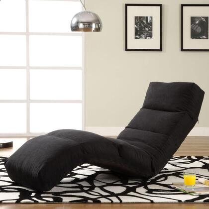 Lifestyle Solutions TTNJAD2BK Contemporary Fabric Chaise Lounge