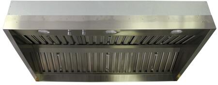 "Trade-Wind L72X Stainless Steel Hood Barbecue Liner With Stainless Steel Commercial Baffle Filters, Variable Speed Fan Control, Dimmable Halogen Lights, 10"" Round Start Collar & In Stainless Steel"
