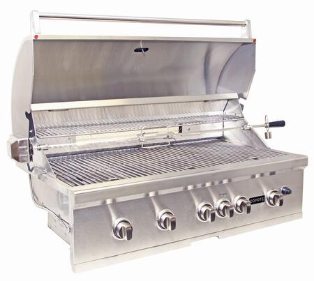 Coyote csl42lp 42 inch built in grill in stainless steel for Coyote hybrid grill