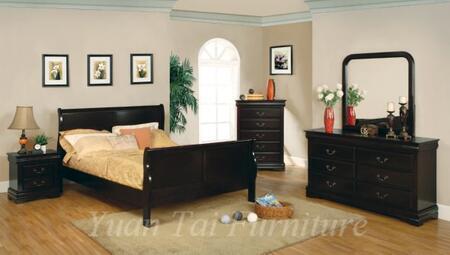 Yuan Tai 3780Q-CHY Louis Philippe Series  Queen Size Sleigh Bed