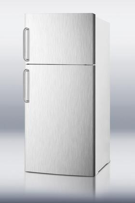 Summit FF1620WSSTB Freestanding Counter Depth Top Freezer Refrigerator with 15.8 cu. ft. Total Capacity 2 Glass Shelves