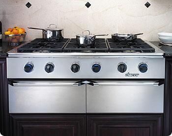 "Dacor EG486SCHLP 48"" Discovery Series Gas Sealed Burner Style Cooktop, in Stainless Steel"