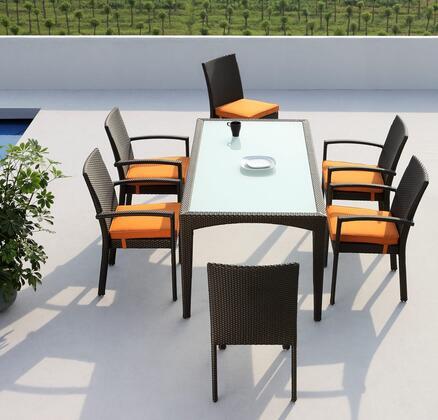VIG Furniture VGMNMISSISSIPPI Modern Rectangular Shape Patio Sets