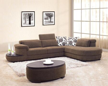 VIG Furniture 0902SOFASET  Sofa and Chaise Fabric Sofa