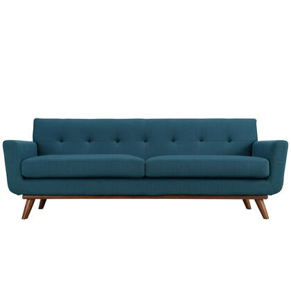 Modway EEI1180AZU Engage Series Stationary Fabric Sofa
