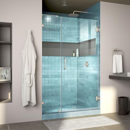 Unidoor Lux Shower Door RS30 30D 14IP 04 Blue Tile