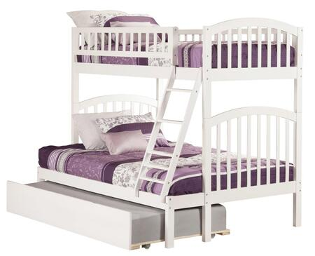 Atlantic Furniture AB6425 Richland Twin Over Full Bunk Bed With Urban Trundle Bed