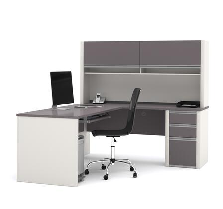 Bestar Furniture 93859 Connexion L-shaped workstation with hutch