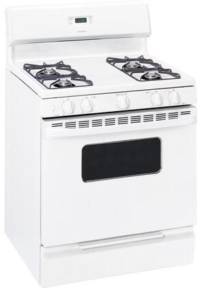 Hotpoint RGB528PEPWW  Gas Freestanding Range with Open Burner Cooktop, 5.0 cu. ft. Primary Oven Capacity, Broiler in White