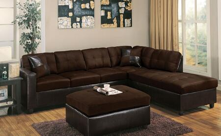 Acme Furniture 51325 Milano Series Sofa and Chaise Fabric Sofa