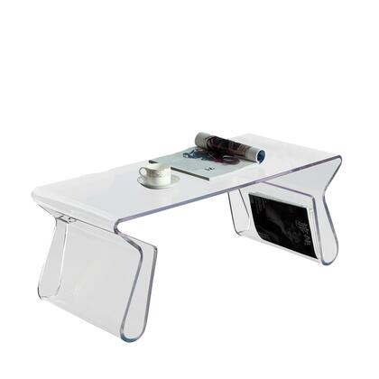 """Modway EEI-562 39"""" Magazine Rectangle Coffee Table with Modern Design, Easy Clean Surface, 3/8"""" Thick Acrylic, and Indoor/Outdoor Use"""