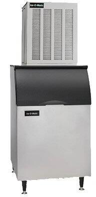 Ice-O-Matic MFI1506 Flake Ice Maker with Condenser Unit, lbs. Ice Production Per 24 Hours, SystemSafe, Heavy-Duty Gear Box, Evaporator, Water Sensor, in Stainless Steel