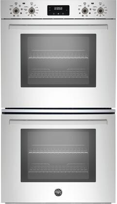 "Bertazzoni PROFD30Xx 30"" Professional Series 8.2 cu. ft. Total Capacity Electric Double Wall Oven with Top Broiler, 4 Oven Racks, Convection, Sabbath Mode, in Stainless Steel"