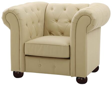 """Glory Furniture 48"""" Armchair with Removable Arms, Bun Feet, Dacron Wrapped Cushions, Foam Encased Pocketed Coil Spring Seating and Faux Leather Upholstery in"""