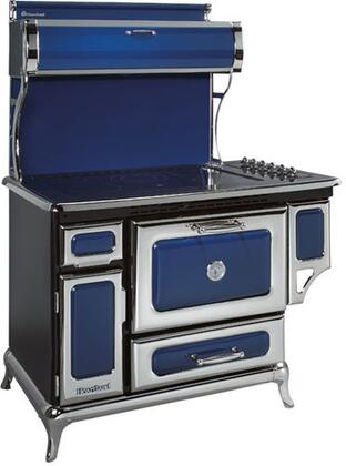 """Heartland 6210CD0CBL 48"""" Classic Series Electric Freestanding Range with Smoothtop Cooktop, 4 cu. ft. Primary Oven Capacity, Warming in Blue"""