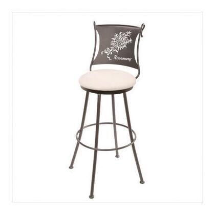 Stone County Ironworks 902771FABFBR Rosemary Series  Bar Stool