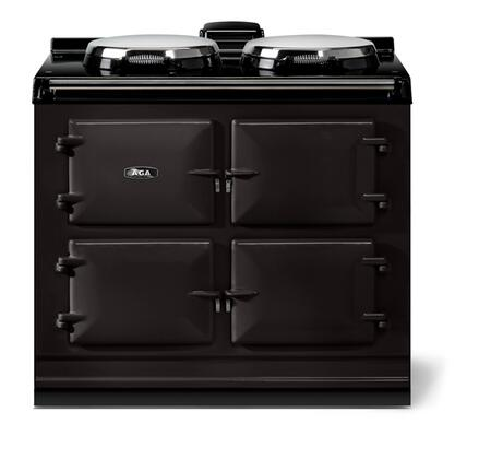 "AGA ATC3BLK 40"" Total Control Series Electric Freestanding Range with Smoothtop Cooktop, 1.5 cu. ft. Primary Oven Capacity, in Black"