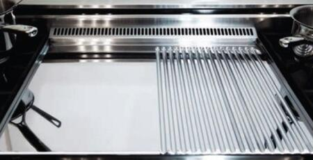 """American Range MC22GG 22"""" Mirror Chrome Finish All Grooved Griddle Plate"""