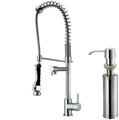 "Vigo VG02007K2 27""H Pull Down Spray Kitchen Fauce with Soap Dispenser:"