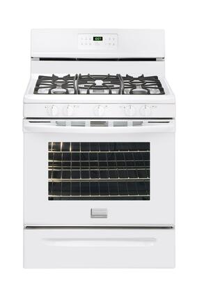 Frigidaire FGGF3031KW Gallery Series Gas Freestanding Range with Sealed Burner Cooktop, 5.0 cu. ft. Primary Oven Capacity, Storage in White