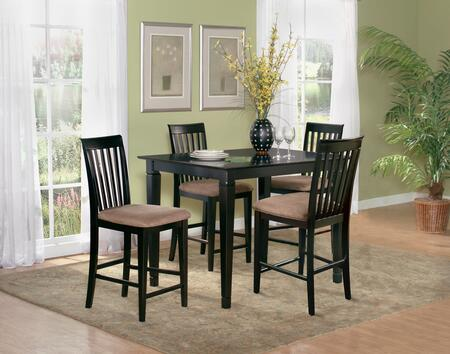 "Atlantic Furniture DECO4260BTPT Deco Series 42x60 Butterfly Top Pub Table (Include 18"" Leaf):"